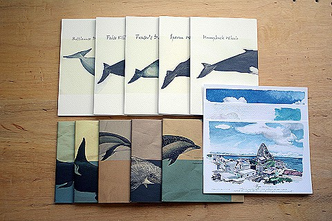 A:鯨豚筆記本任2款+島航寫真明信片一套
